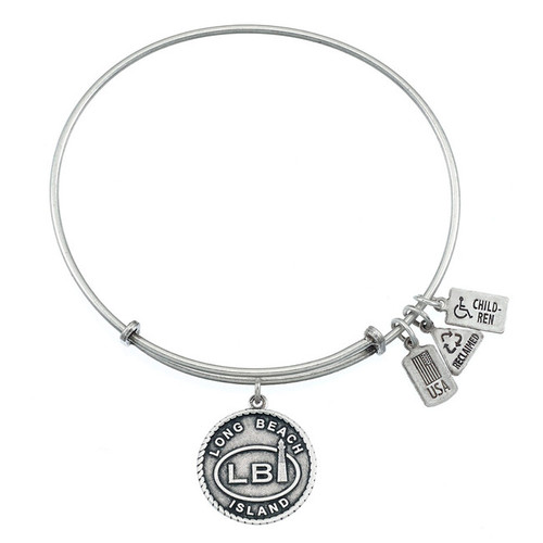 Wind and Fire Long Beach Island, New Jersey Charm with Bangle WF-473