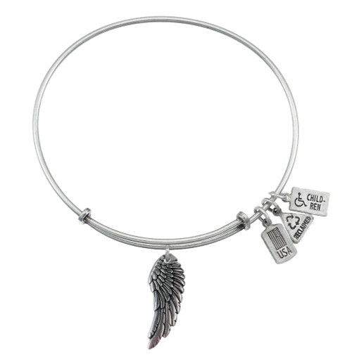 Wind and Fire 3D Angel Wing Charm with Bangle WF-502