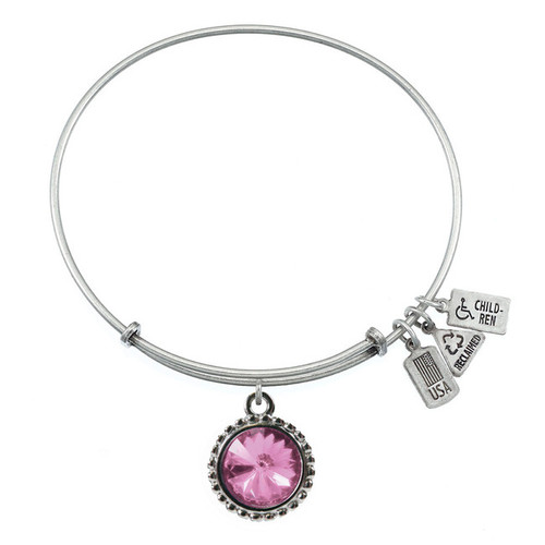 Wind and Fire June Birthstone Charm with Bangle WF-106