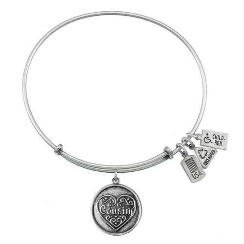 Wind and Fire Cousin with Heart Charm with Bangle WF-285