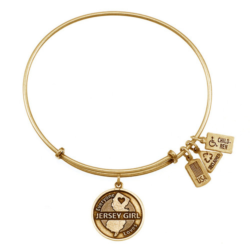 Wind and Fire Jersey Girl Charm with Bangle WF-435