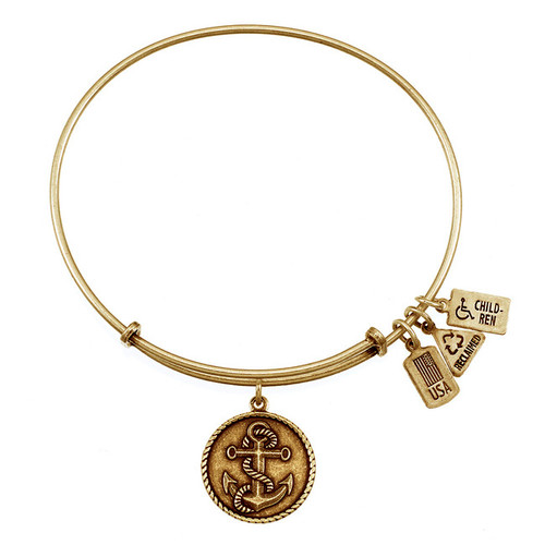 Wind and Fire Anchor with Rope Charm with Bangle WF-205