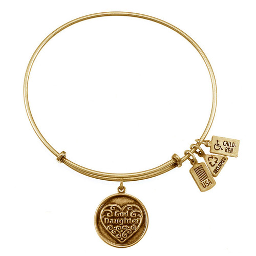 Wind and Fire Goddaughter with Heart Charm with Bangle WF-293