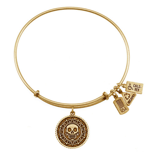 Wind and Fire Mayan Crystal Skull Charm with Bangle WF-232 (Retired)