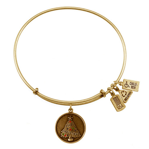 Wind and Fire Christmas Tree Charm with Bangle WF-299