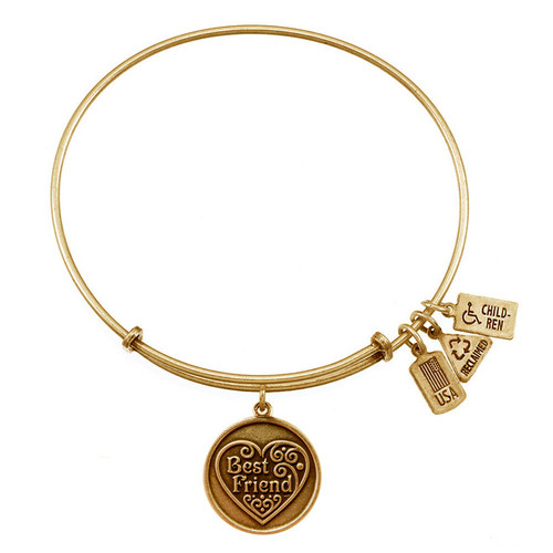 Wind and Fire Best Friend with Heart Charm with Bangle WF-295