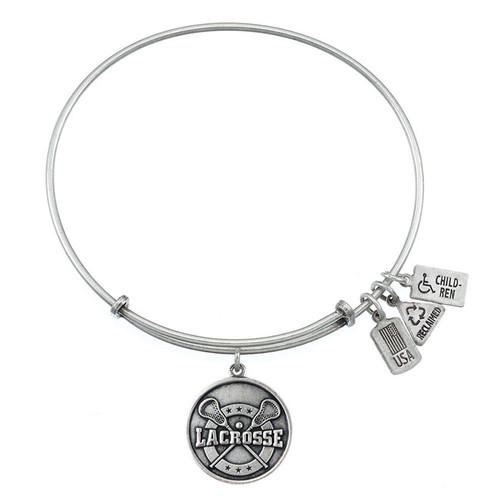 Wind and Fire Lacrosse Charm with Bangle WF-315