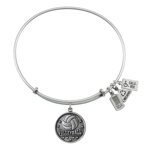 Wind and Fire Volleyball Charm with Bangle WF-318