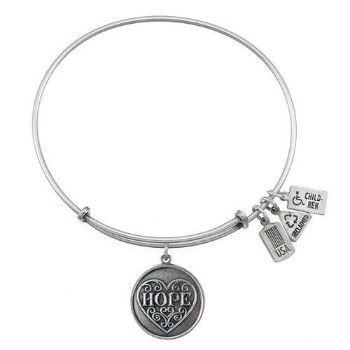 Wind and Fire Hope Heart Charm with Bangle WF-280