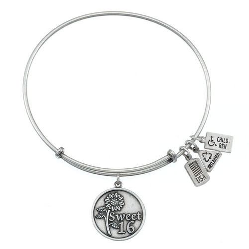 Wind and Fire Sweet 16 Charm with Bangle WF-253