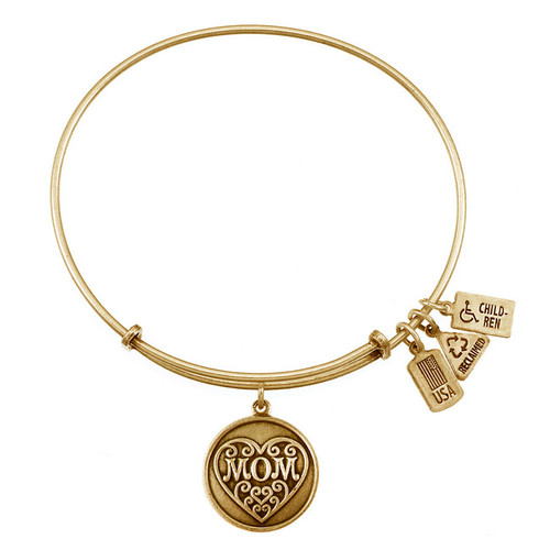 Wind and Fire Mom with Heart Charm with Bangle WF-287