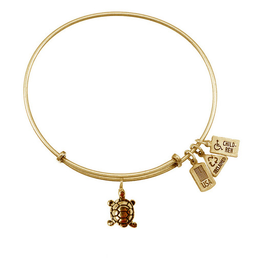 Wind and Fire 3D Turtle Charm with Bangle WF-511