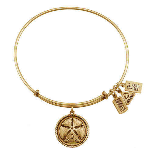 Wind and Fire Sand Dollar Charm with Bangle WF-275