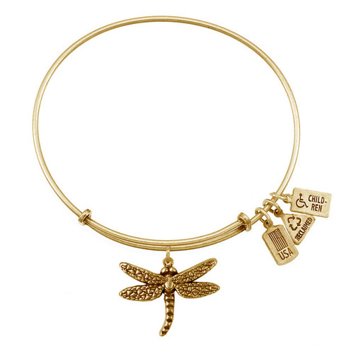 Wind and Fire 3D Dragonfly Charm with Bangle WF-510