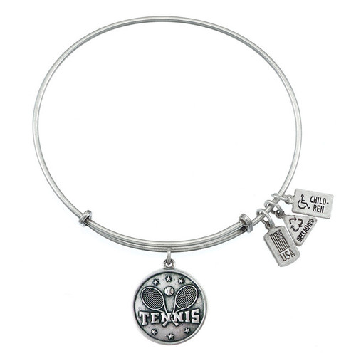 Wind and Fire Tennis Charm with Bangle WF-320