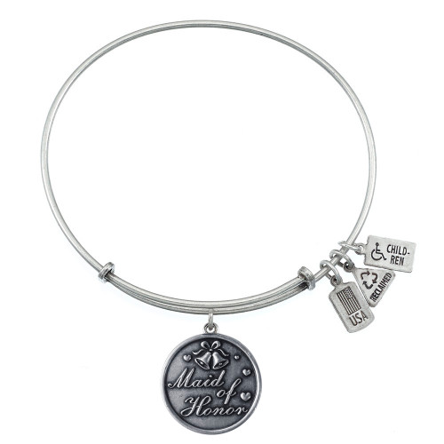 Wind and Fire Maid of Honor Charm with Bangle WF-363 (retired)