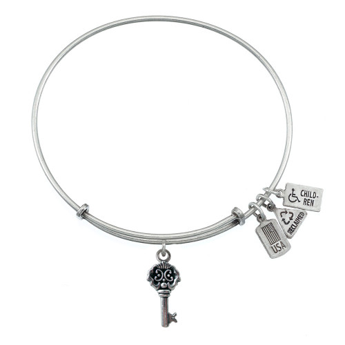 Wind and Fire 3D Key to My Heart Charm with Bangle WF-505