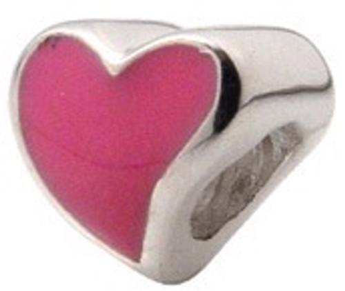 ZABLE Pink Heart Bead Charm BZ-906