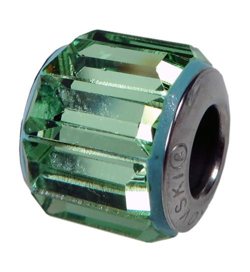 ZABLE  Baguette Peridot Green Crystal Bead Charm BZ-1357