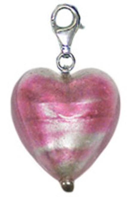 ZABLE Murano Heart Shaped Drop/Pendant Glass Bead Charm BZ-2900