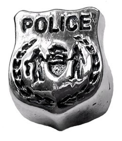 ZABLE Police Badge Bead Charm BZ-1773
