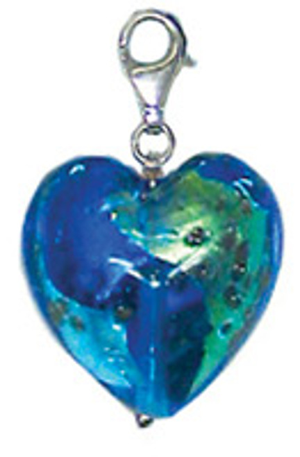 ZABLE Murano Heart Shaped Drop/Pendant Glass Bead Charm BZ-2901