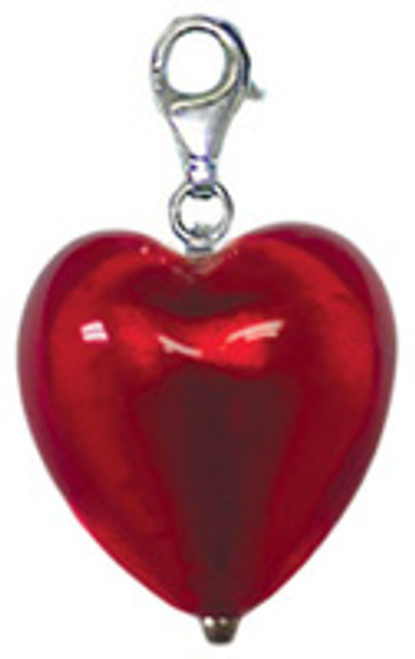 ZABLE Murano Heart Shaped Drop/Pendant Glass Bead Charm BZ-2903