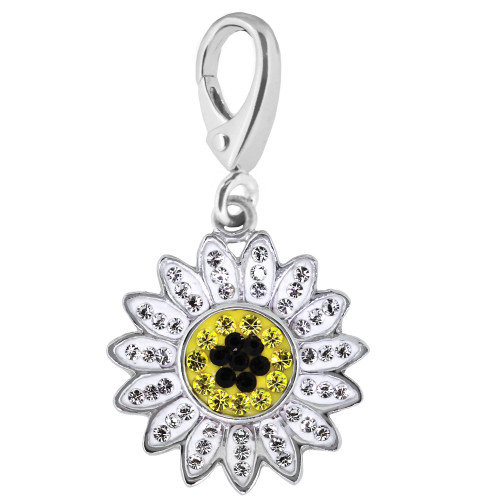ZABLE Sunflower Enamel and Crystal Flower Charm LC-322