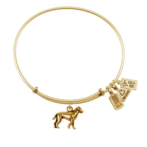 Wind and Fire 3D Puppy Dog Charm with Bangle WF-513 (retired)