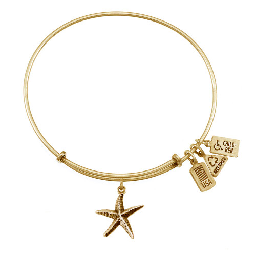 Wind and Fire 3D Starfish Charm with Bangle WF-523