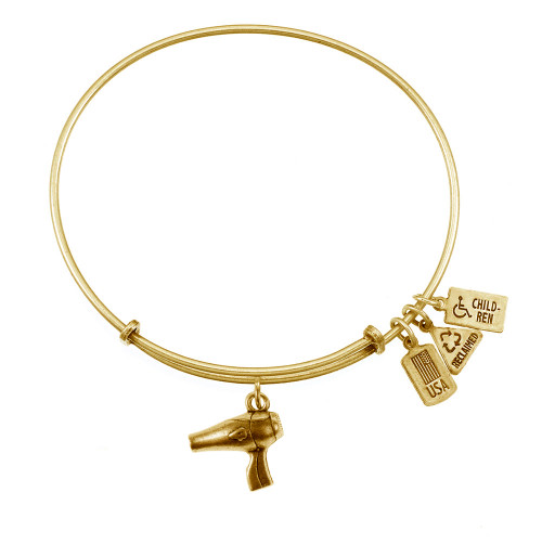 Wind and Fire 3D Blow Dryer Charm with Bangle WF-545