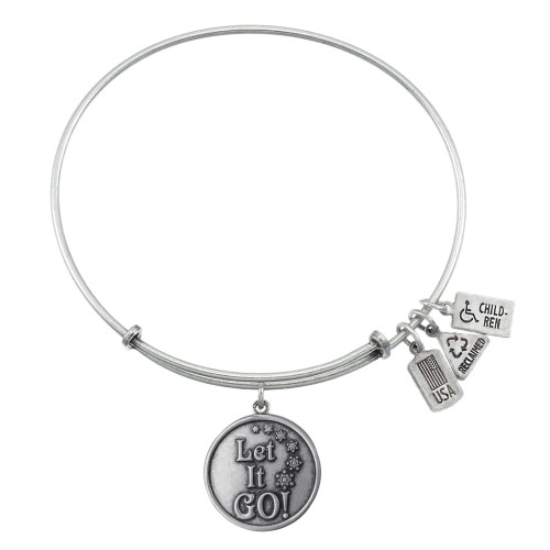 Wind and Fire Let It Go Charm with Bangle WF-372 (Retired)