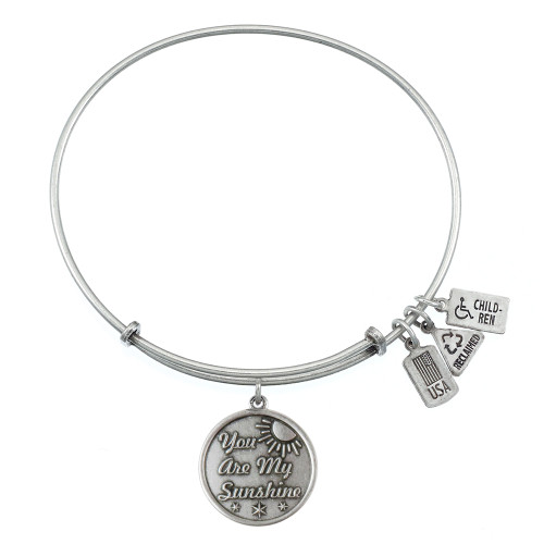 Wind and Fire You Are My Sunshine Charm with Bangle WF-381