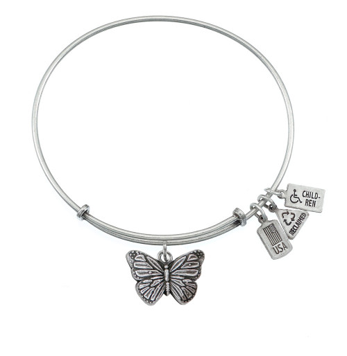 Wind and Fire 3D Butterfly Charm with Bangle WF-518