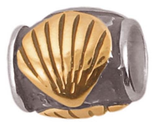 ZABLE 2-Tone Shell Bead Charm BZ-637