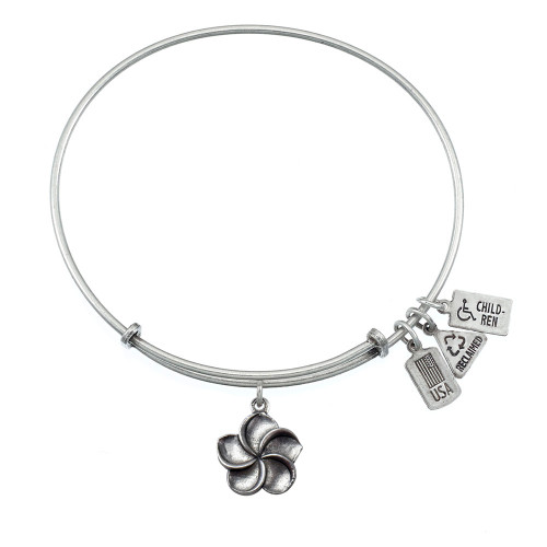 Wind and Fire 3D Plumeria Flower Charm with Bangle WF-528