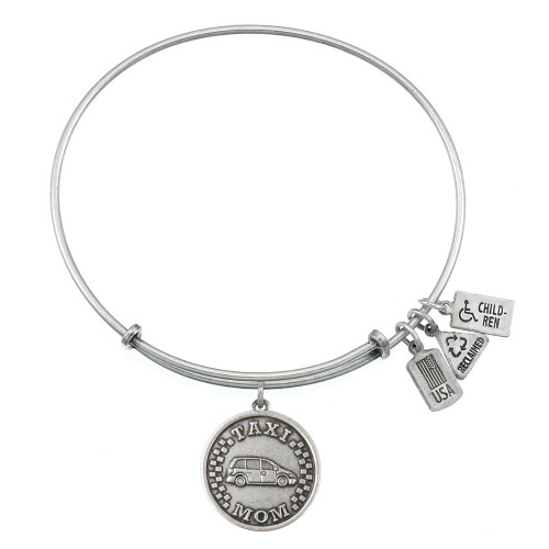 Wind and Fire Taxi Mom Charm with Bangle WF-379 (Retired)