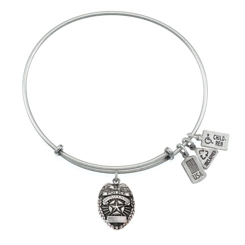 Wind and Fire 3D Police Badge Charm with Bangle WF-538