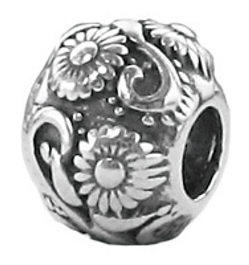 ZABLE Floral Bead Charm BZ-1938