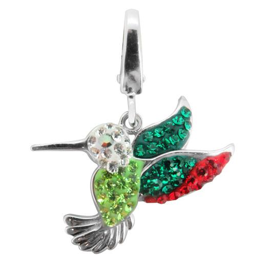 ZABLE Crystal Hummingbird Charm LC-389