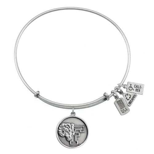 "Wind and Fire ""Fordham U Rams"" Charm with Bangle WF-659S"