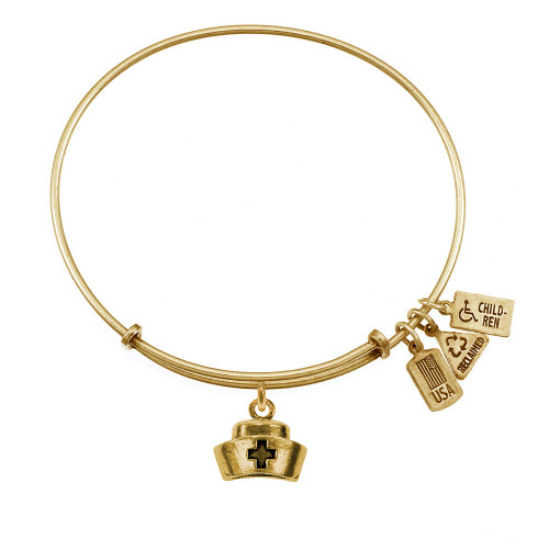 """Wind and Fire """"Nurse's Cap"""" 3D Charm with Bangle WF-536"""