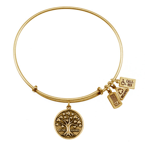"""Wind and Fire """"Tree of Love"""" Charm with Bangle WF-388"""