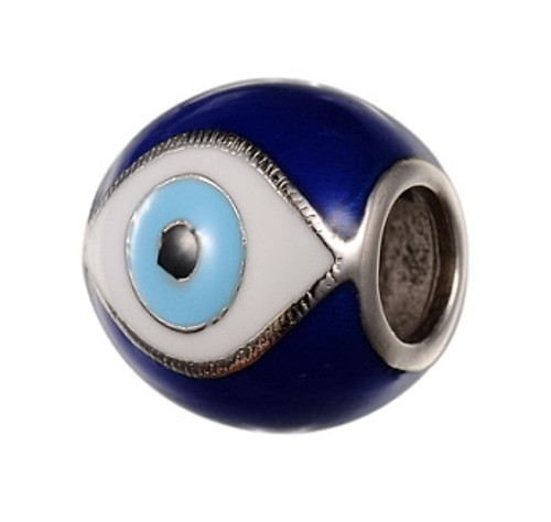 ZABLE Evil Eye with Blue Enamel Bead Charm BZ-2293