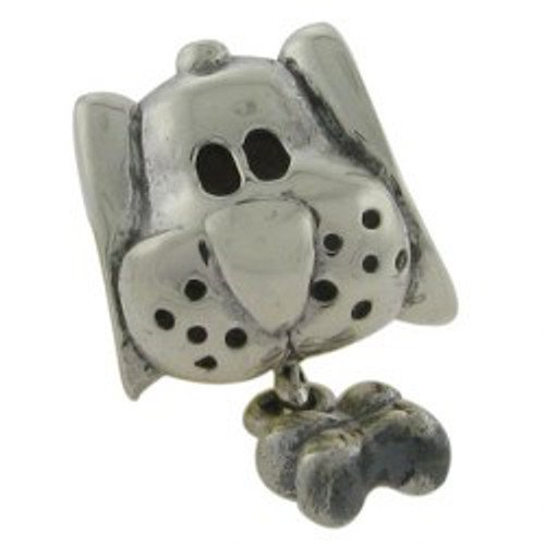 BIAGI Dog with Bone Dangle Bead Charm B-DDS-05