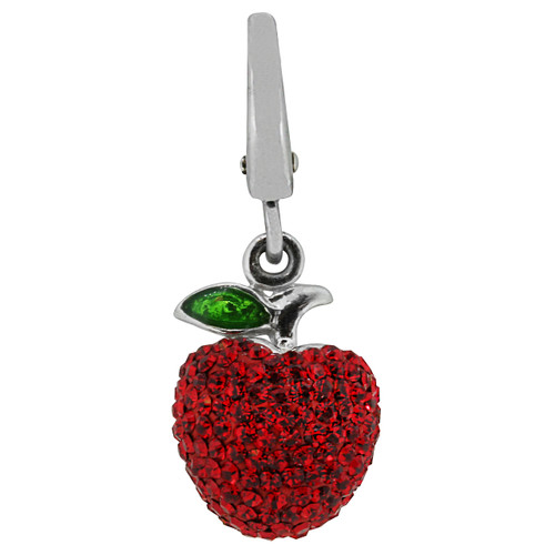 ZABLE Red Crystal Apple Charm LC-309
