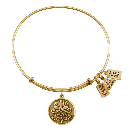"Wind and Fire ""Namaste"" Charm with Bangle WF-396"