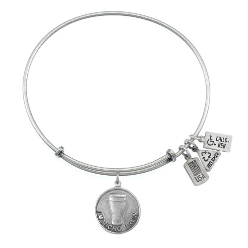 "Wind and Fire ""I Love Micro Brew"" Charm with Bangle WF-344"