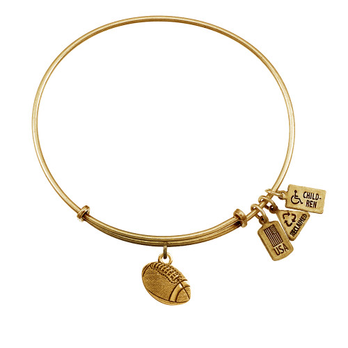 """Wind and Fire 3-D """"Football"""" Charm with Bangle WF-581"""