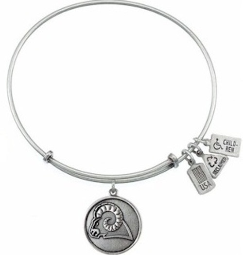 Wind and Fire Ram Charm with Bangle WF-314 (Retired)(Silver Only)